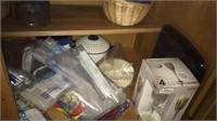 tea cups, glassware, kitchen appliances