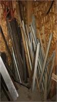 angle iron & metal pieces