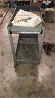 Dayton Rolling cart, newspapers