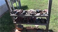 Decorative rocks, petrified wood, lava rocks