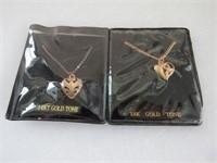 (2) 18K Gold Tone Necklaces