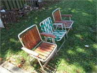 (3)  Aluminum Lawn Chairs