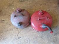 (2) Metal Gas Cans 2 1/4 Gal