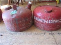 (2) Metal Gas Cans, 2 1/4 Gal