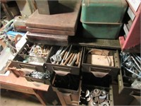 Metal Cabinet w/24 Drawers & Contents