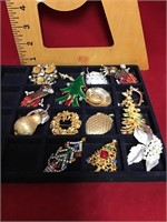 Collection of pins and brooches
