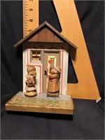 Anri Display and 2 Figurine