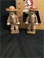 Two Anri Figurine