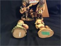 Four Anri Figurine