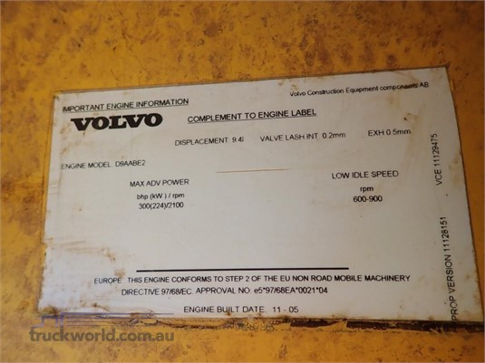 2005 Volvo A25D - Truckworld.com.au - Heavy Machinery for Sale