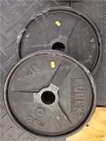 Pair of Cybex 25 lbs. Barbells