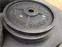 Group of 4 Olympic Standard 45 lbs. Barbells
