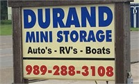 LIVE AUCTION:  Durand Mini Storage - Several Units