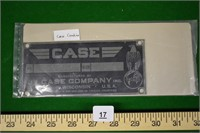 Serial Number Plate for Case Combine