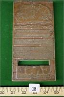 Case 1527 Tractor Printer Stamp