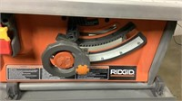 "Ridgid 10"" Compact Table Saw w/ Folding X-Stand-"