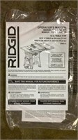 "Ridgid 10"" Cast Iron Table Saw-"