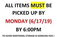 SUNDAY ONLINE PUBLIC AUCTION - 6/16/19 - OVER 500 LOTS