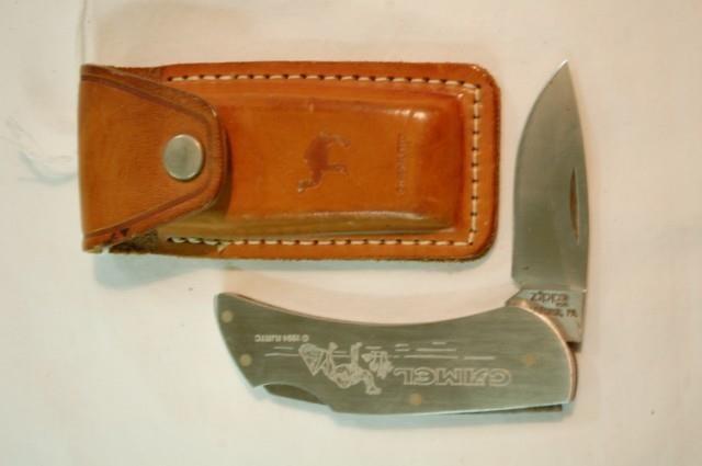 Vintage Zippo Camel Cigarette knife & sheath  | Cady Auction