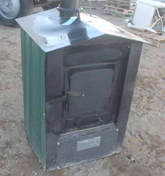 HOMEMADE OUTDOOR WOOD FURNACE WITH