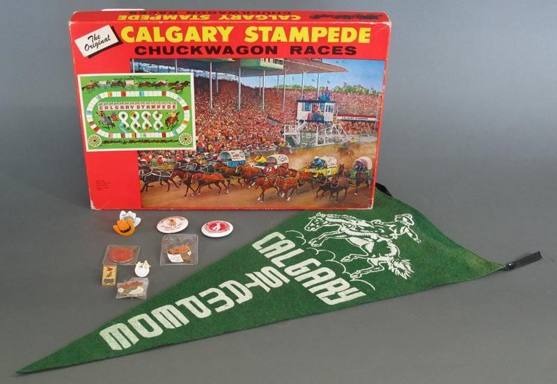Calgary Stampede Board Game Pennant And Pins Hodgins