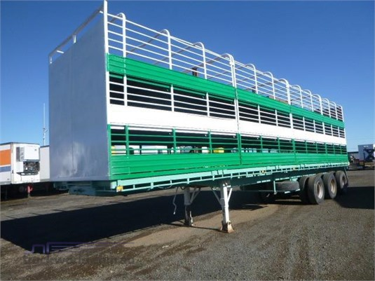 1972 Mcgrath Stock Crate Trailer Western Traders 87 - Trailers for Sale