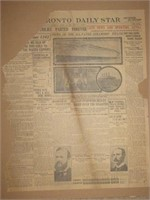 Toronto Daily Star, Sinking of the Titanic, April 16, 1912