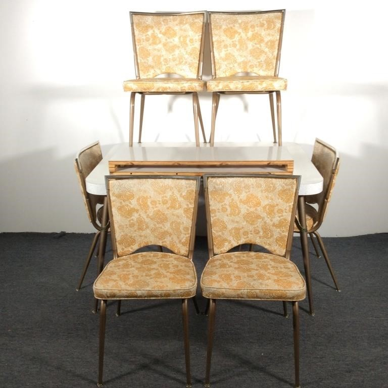 Retro 60 S Kitchen Table With 6 Chairs Dangerfield Auctions Llc