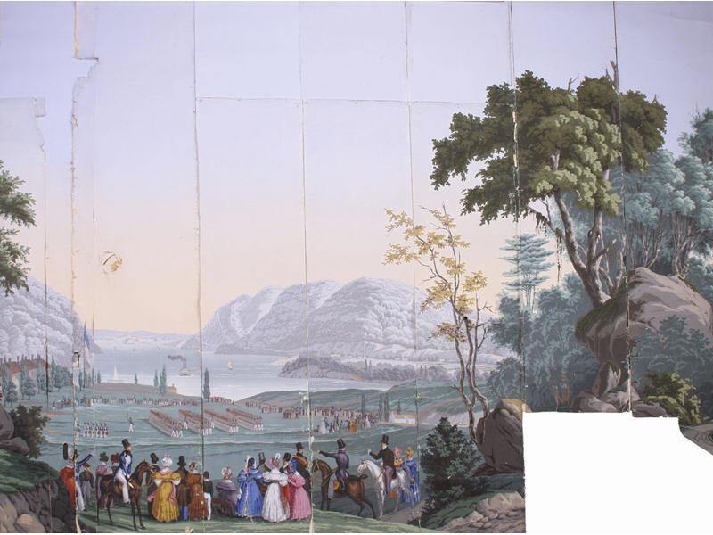 19c Zuber West Point French Scenic Wallpaper Myers Antiques