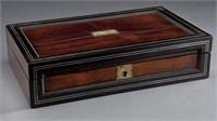 Cased vampire killing kit, in a rosewood