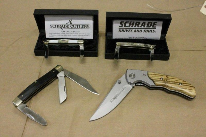 4) ASSORTED SCHRADE KNIVES - UNUSED, MODEL SES5, | Smith Sales LLC