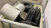 Assorted PVC Pipe and Barrier Bases-