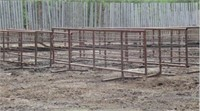 15 FREE STANDING CORRAL PANELS 24 FT .  26