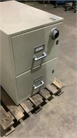 2-Drawer Fireproof Filing Cabinet-