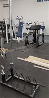Barbell Plate Rack with Bars
