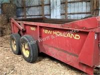 New Holland 190 tandem wheel manure spreader
