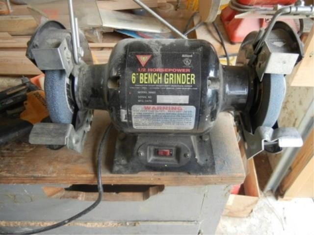 Surprising Allied 6 Bench Grinder Pickett Auction Service Andrewgaddart Wooden Chair Designs For Living Room Andrewgaddartcom