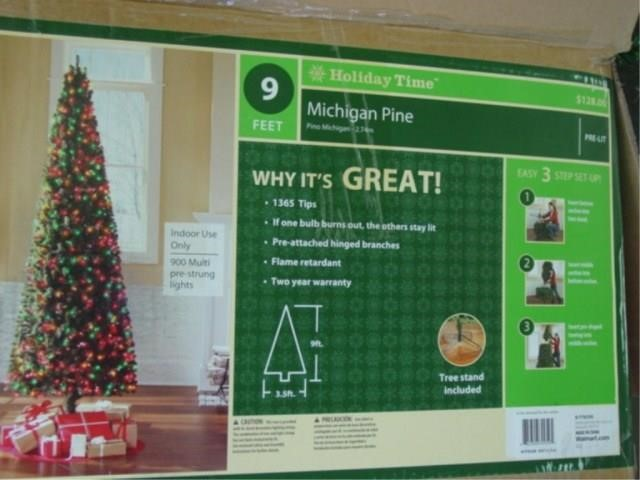 Holiday Time Christmas Tree.Holiday Time 9 Michigan Pine Christmas Tree Idaho Auction
