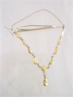 Alaskan Gold Nugget 14k Tie Clasp