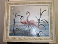 Turner Flamingo Reverse Painting