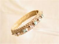 $12,000 Emerald & Diamond Gold Bracelet