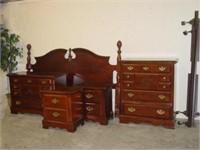 Dark Cherry Bedroom Set