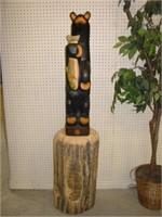 Ducks Unlimited Carved Bear