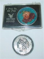 2 Silver Rounds - 1 Troy Ounce .999 Silver Each