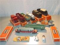 9 Lionel Train Cars + Boxes
