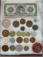 Assortment of Foreign Coins/Currency
