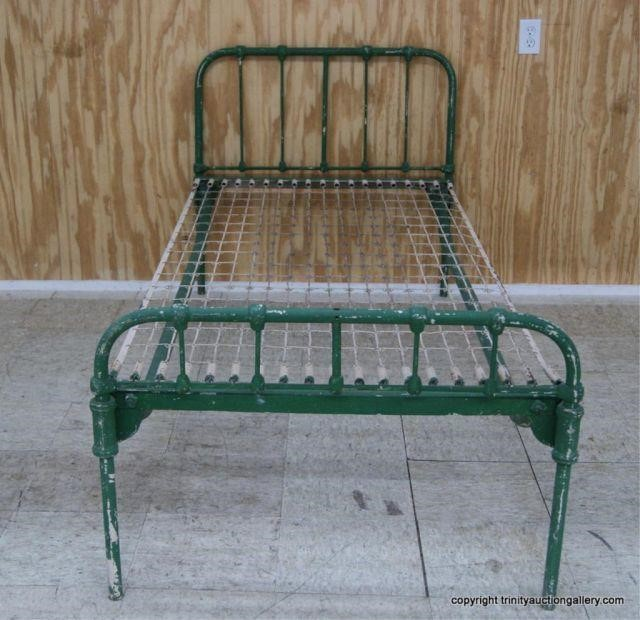 Antique Iron Twin Size Bed Hospital