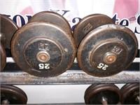 Pair of 25 lbs. Dumbbells