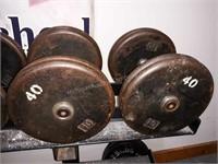 Pair of 40 lbs. Dumbbells