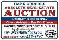 "Absolute Real Estate Auction ""Internet Only"""
